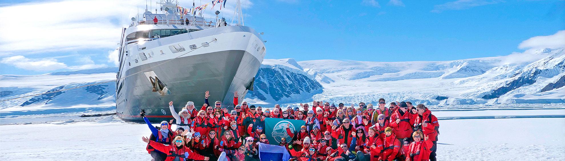 Новый год 2021 за полярным кругом Антарктиды на мега-яхте L'Austral